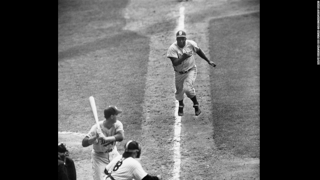 Robinson was a terrific base runner, leading the National League twice in stolen bases and upsetting pitchers' rhythms on a regular basis. He also stole home 19 times in the regular season, and in the 1955 World Series, his steal of home in the eighth inning of Game 1 helped ignite Brooklyn to its only World Series victory (though they lost the game).