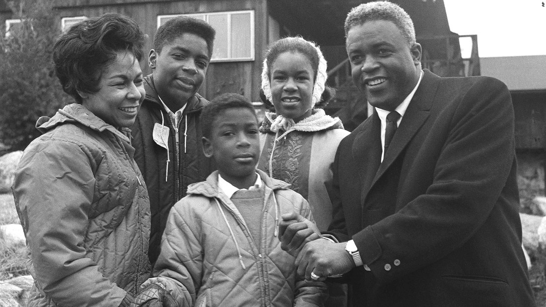 Jackie and Rachel Robinson had three children, from left: Jackie Jr., David and Sharon. They're shown at their home in Stamford, Connecticut, in 1962. Jackie Jr. died in a car accident in 1971 at age 24.