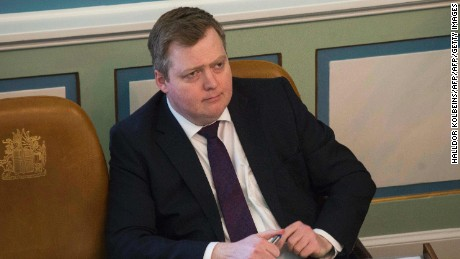 Prime Minister Sigmundur David Gunnlaugsson resigned Tuesday.