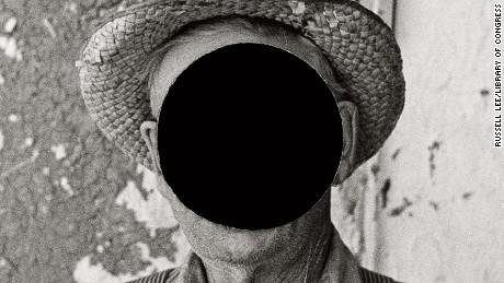 Mr. Tronson, farmer near Wheelock, North Dakota. 1937. Russell Lee. (detail)