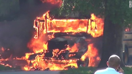 school bus explodes in flames pkg_00000010