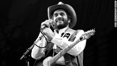 Merle Haggard performs in Fresno, California in 1986.