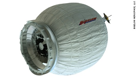 BEAM is an expandable capsule that will attach to the space station.