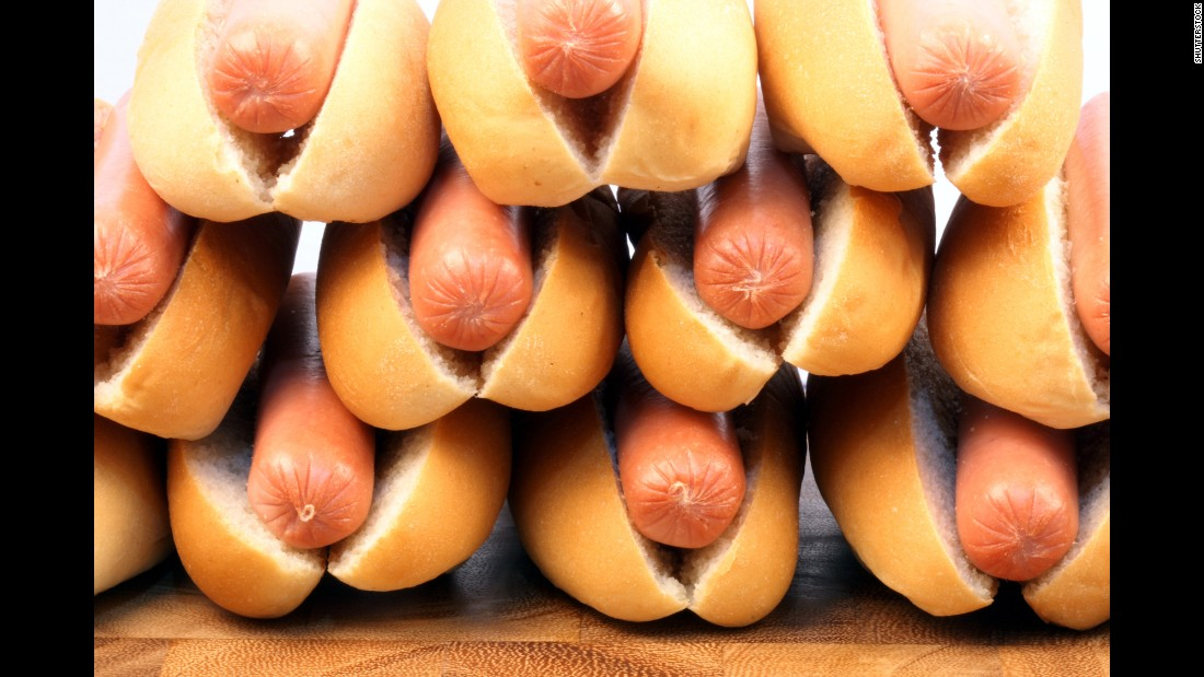 What's a summer cookout without a hot dog? Each dog and bun has about 350 calories, which you could work off with about an hour of Pilates.