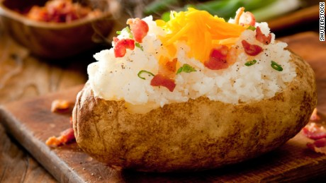 Potatoes offer many nutrients and minerals, but can become unhealthy if fried or loaded with butter, sour cream and cheese.