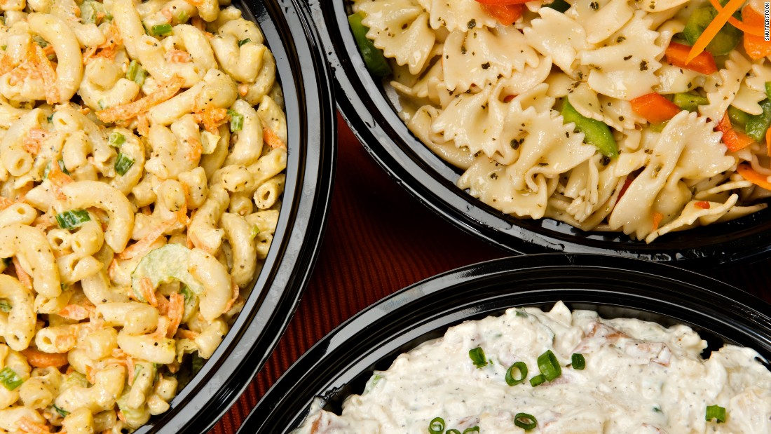 A serving of pasta salad has about 160 calories. You'll have to decide if it's worth the 30 minutes of situps needed to burn it off.