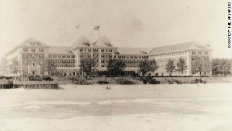 The Breakers was originally called the Palm Beach Inn. The first building burned down in 1903.