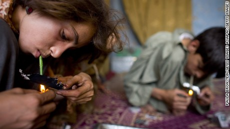 Young drug users in Afghanistan.