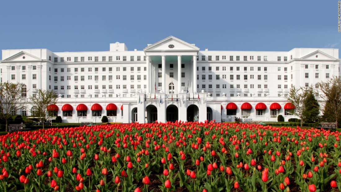 The Greenbrier hotel opened in 1913, several years after the Chesapeake and Ohio Railway purchased the resort property.