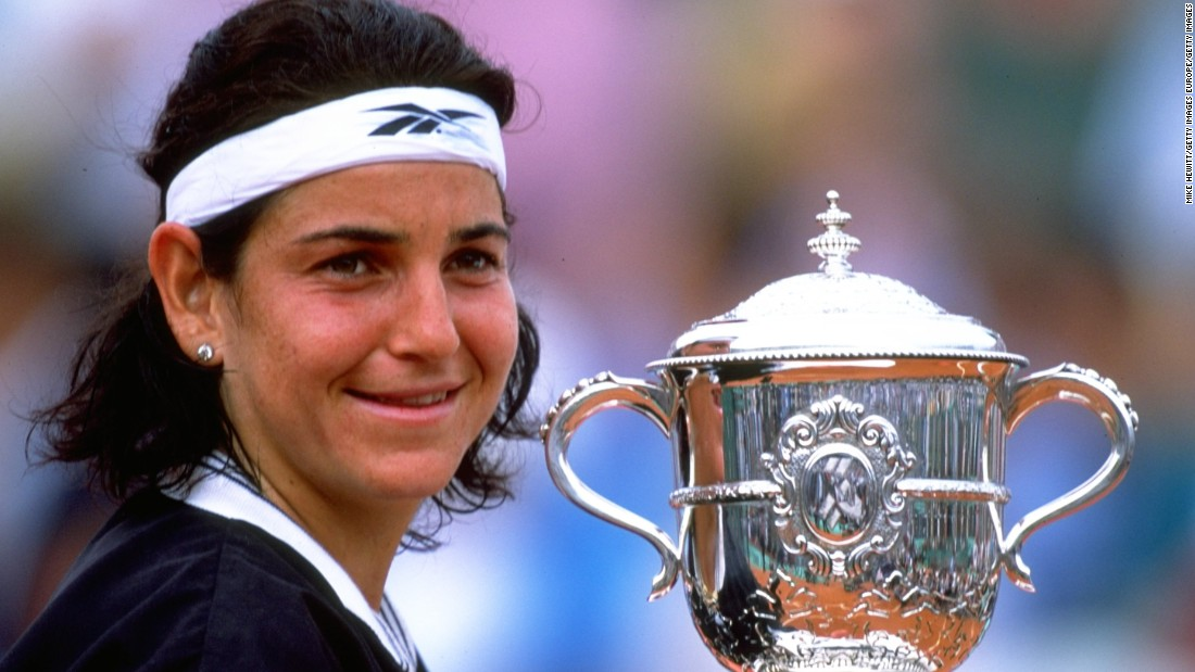 Arantxa Sanchez-Vicario shocked the tennis world when she won the 1989 French Open at the age of 17, beating world No.1 Steffi Graf in the final. The Spaniard would win three more grand slam singles titles.