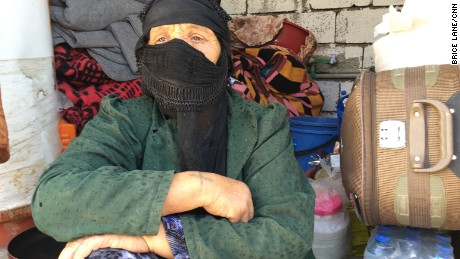 Abu Israa's mother is still in shock at the death of her son, killed in the crossfire as their village was liberated
