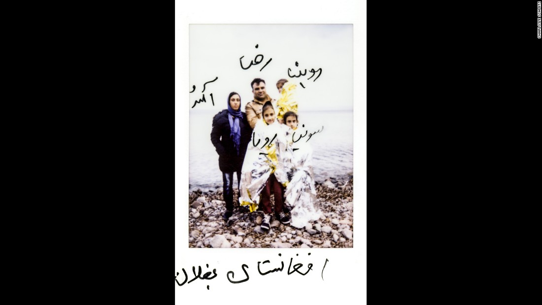 This photo identifies a family from Baghlan, Afghanistan: Romina, Ameneh, Reza, Sonja and Roya.