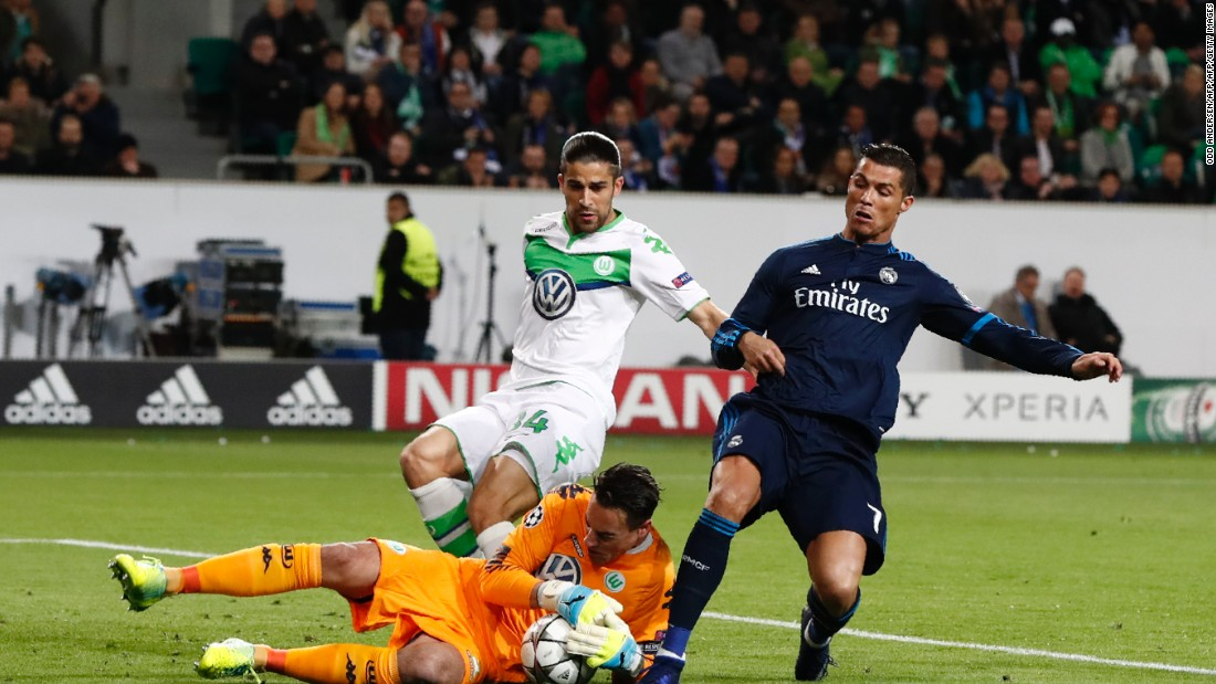 Cristiano Ronaldo was kept quiet for the majority of the contest by the Wolfsburg defense, although the forward did have a goal ruled out for offside.