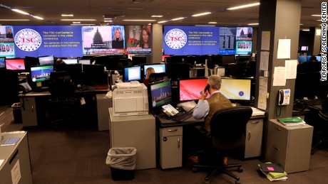 The operations center at the Terrorist Screening Center
