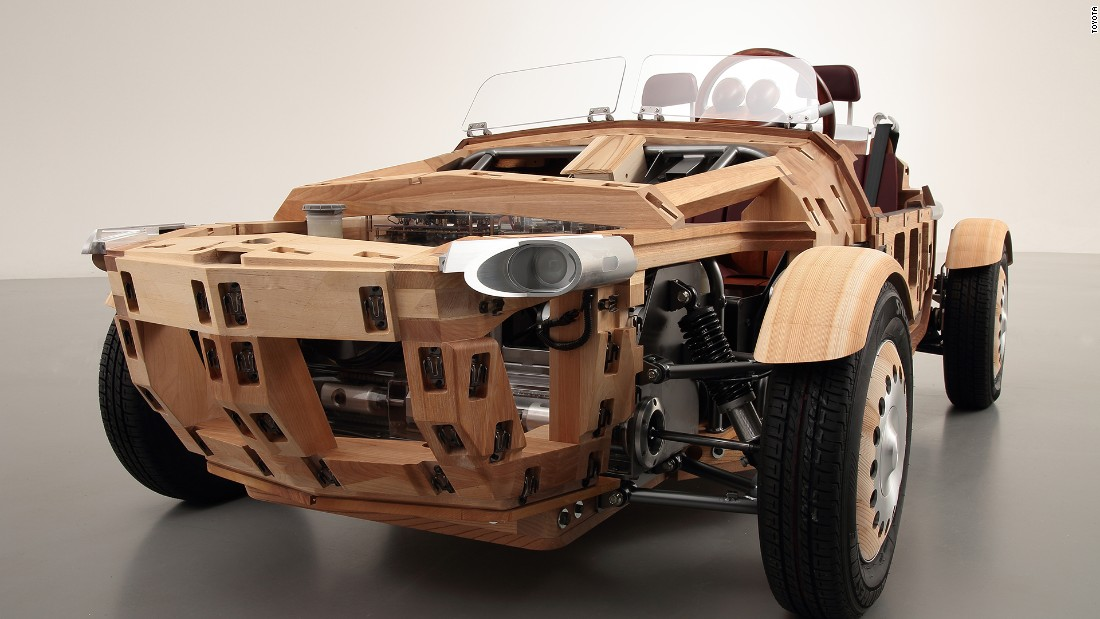 86 wooden panels make up the car's body.