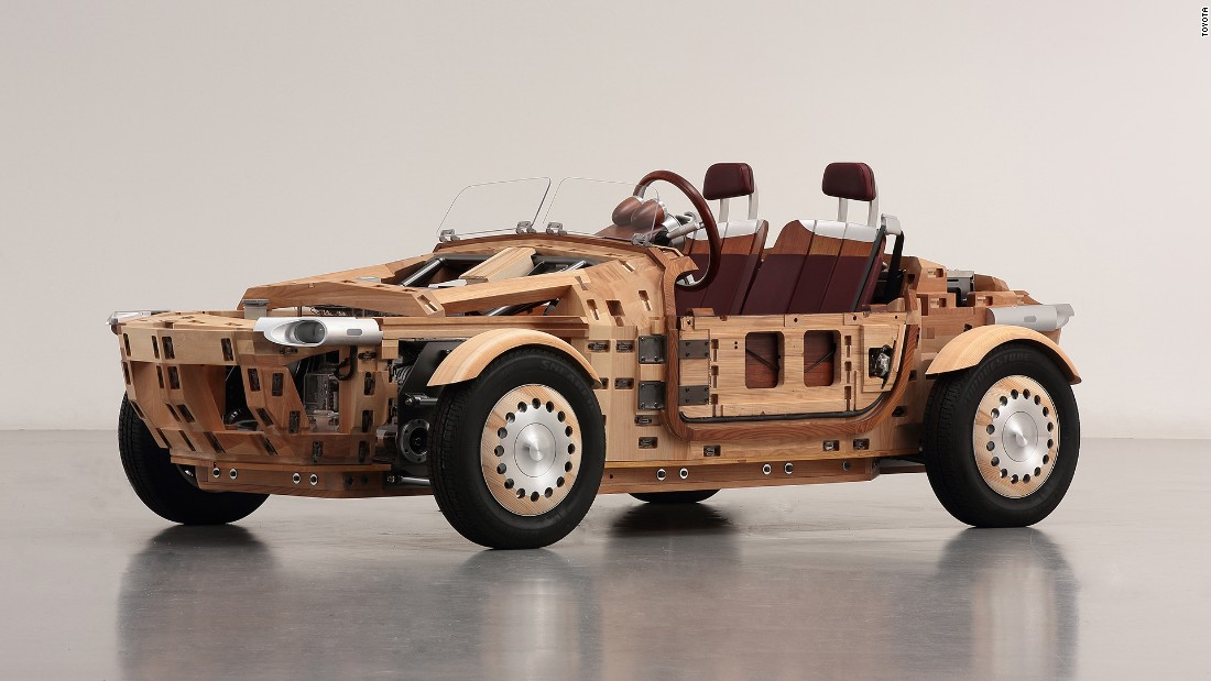 "Japanese car manufacturer Toyota revealed the <a href=""http://edition.cnn.com/2016/04/06/design/toyota-setsuna-wooden-car/"" target=""_blank"">Toyota Setsuna</a> in April. The Setsuna is a concept car made entirely out of wood using traditional Japanese interlocking techniques."