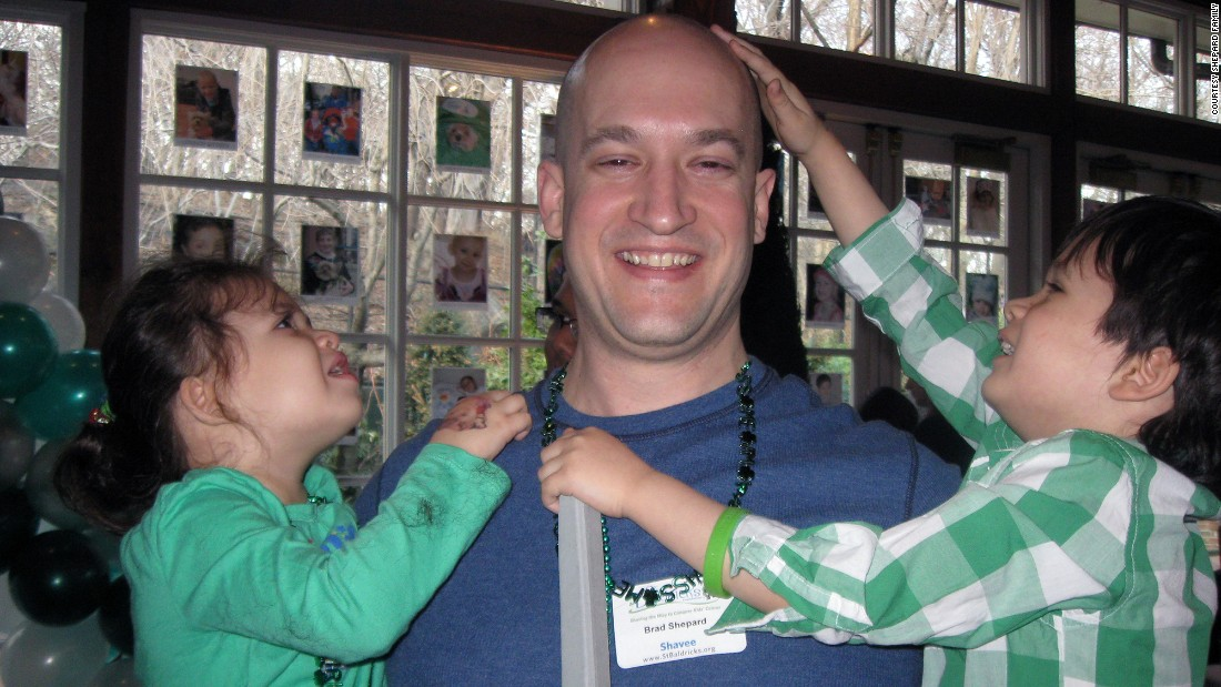 Through St. Baldrick's, Brad started shaving his head  in 2011 in honor of children battling cancer and leukemia.