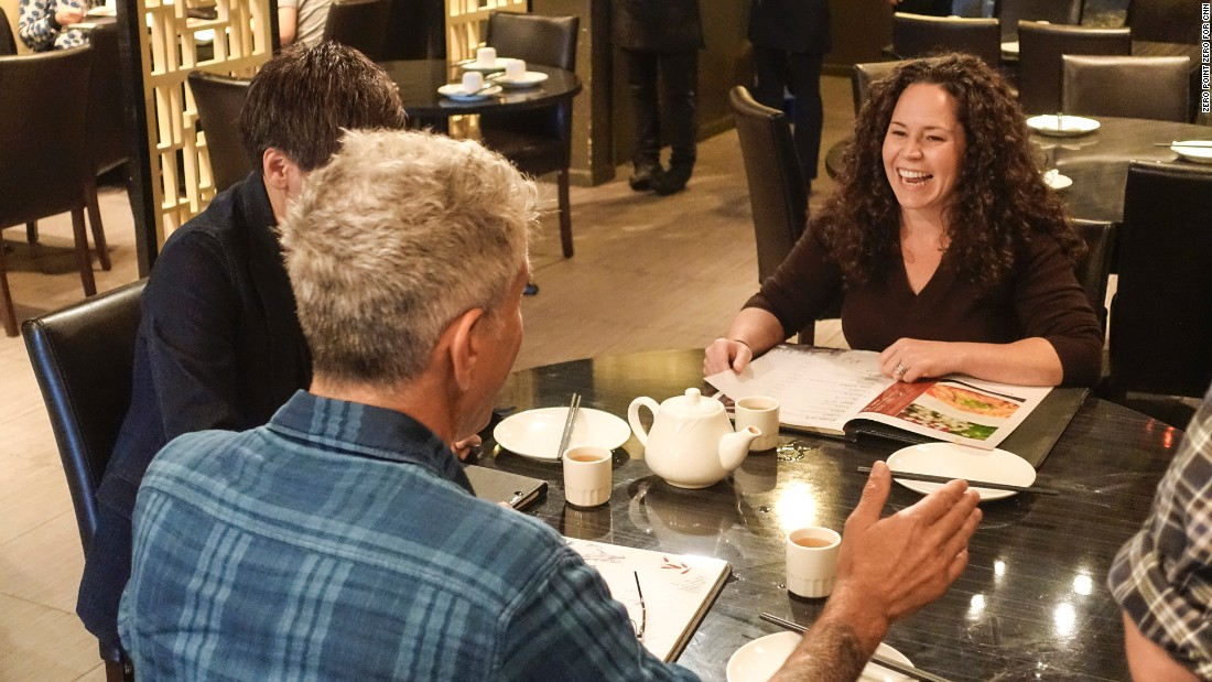 Chicago chef Stephanie Izard pointed Bourdain to some of the city's best Sichuan food at Sze Chuan Cuisine in Chinatown.