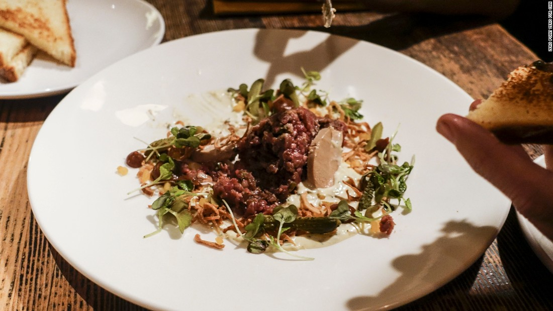 Longman & Eagle's beef tartare is prepared with a variety of locally sourced ingredients.