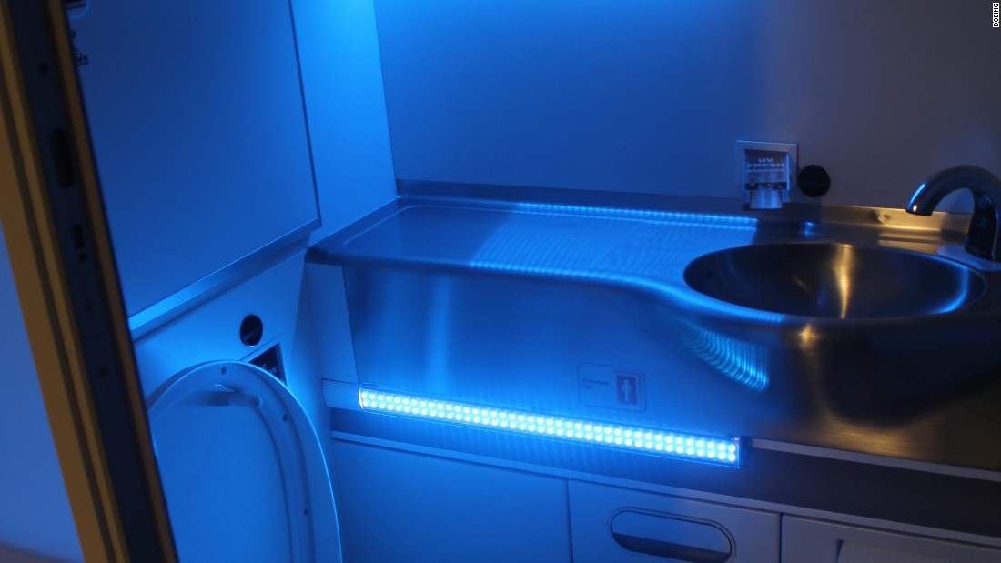 "Boeing took home an award for its <a href=""http://edition.cnn.com/2016/03/06/aviation/self-cleaning-plane-toilets/"">Fresh Lavatory</a> concept. The prototype uses ultraviolet (UV) light to kill 99.99% of all lavatory germs, in three seconds, after every use."
