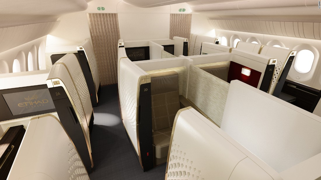 "The Cabin Concepts award went to Etihad Airways. ""Ingenious use of space gives the company's Boeing 787 First Suite the same comfort as the Airbus A380,"" said the judges."