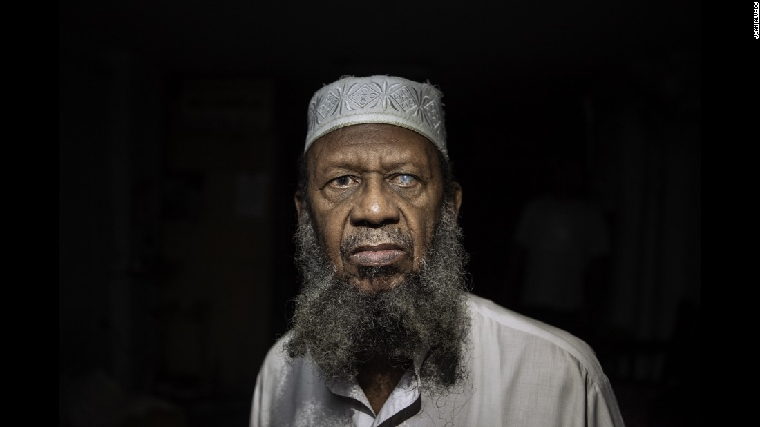 "Hassan Abdul Gafur, one of the few thousand Muslims in Cuba, converted to Islam in 1994. Photographer Joan Alvado said the Muslims he met in Cuba were converts. ""Many of them were Christians before or some other religion, or a few of them were atheists as well,"" Alvado said."