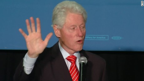Bill Clinton spars with protester over 1994 crime bill