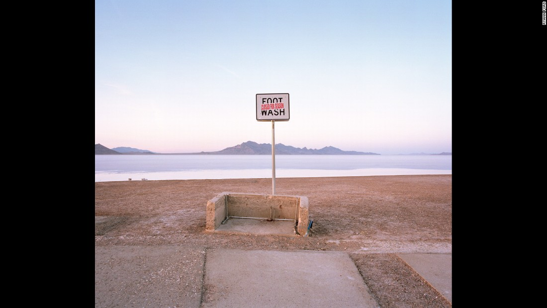 A foot-washing station at the Bonneville Salt Flats, off Interstate 80 in northwestern Utah.