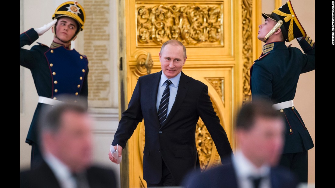 "Russian President Vladimir Putin arrives for a meeting in Moscow on Tuesday, April 5. The International Consortium of Investigative Journalists says it has <a href=""http://money.cnn.com/2016/04/05/news/panama-papers-things-to-know/index.html"" target=""_blank"">obtained documents</a> revealing a clandestine network that connects associates of Putin to hidden wealth in secret offshore companies. The Russian government <a href=""http://www.cnn.com/2016/04/06/europe/chance-putin-panama-papers/"" target=""_blank"">has denounced the revelations,</a> part of what's known as the Panama Papers, as a giant smear campaign to discredit Putin. CNN hasn't been able to independently verify the reports, which also implicate 12 current or former world leaders."