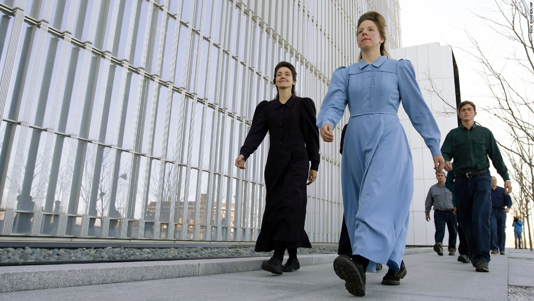 "Women from the Fundamentalist Church of Jesus Christ of Latter-Day Saints leave a federal courthouse in Salt Lake City on Wednesday, April 6. Lyle Jeffs, the bishop of a polygamous enclave known as Short Creek, <a href=""http://www.cnn.com/2016/04/07/us/flds-bishop-lyle-jeffs-detained/index.html"" target=""_blank"">will remain behind bars</a> until he is tried on charges he conspired to fleece the federal government -- and his own followers -- of millions of dollars in food-stamp money. Jeffs is the younger brother of Warren Jeffs, the imprisoned leader and prophet of the Fundamentalist Church of Jesus Christ of Latter-Day Saints. <a href=""http://www.cnn.com/2016/04/01/world/gallery/week-in-photos-0401/index.html"" target=""_blank"">See last week in 36 photos</a>"