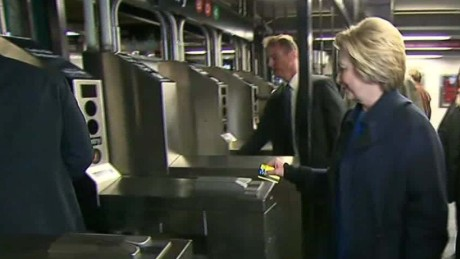 Hillary Clinton's New York subway joyride