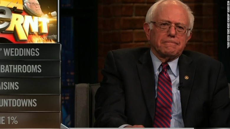 Bernie Sanders 'berns' the 1% on 'Late Night'