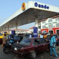 Petrol station queue Nigeria