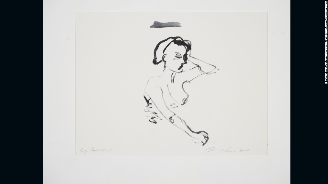 Tracey Emin, <em>Cry Beautiful</em>, 2015, Gouache on paper, 12 x 16 in. (30.5 x 40.6 cm), Courtesy of Lehmann Maupin and White Cube