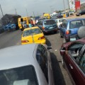 cars queuing for fuel Nigeria