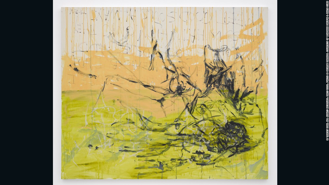 Tracey Emin, <em>I tried to hold your soul, </em>2015, acrylic on canvas, 60.04 x 72.05 inches (canvas), 152.5 x 183 cm, courtesy of Lehmann Maupin and White Cube<br />