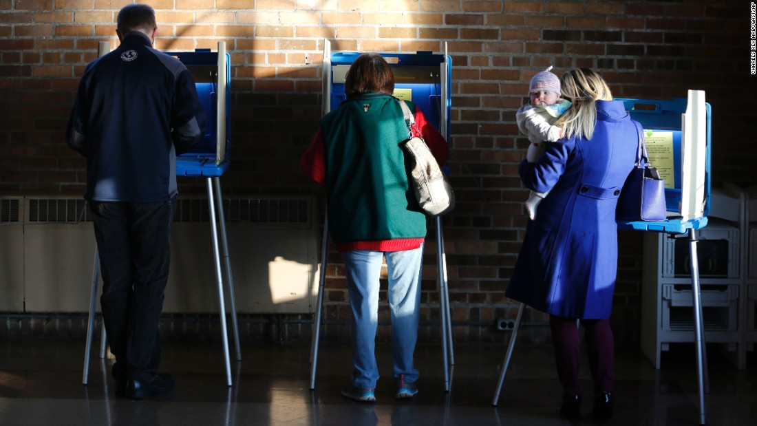 Milwaukee voters cast their ballots in Wisconsin's primary on Tuesday, April 5.