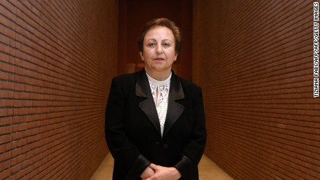 Iranian Nobel Peace laureate Shirin Ebadi poses on December 12, 2014 during the 14th World Summit of Nobel Peace Laureates in Rome. Each year since 1999, the Summit is attended by Nobel Peace Prize Laureates and prominent global figures, who are active in the social, scientific, political and cultural areas.    AFP PHOTO / TIZIANA FABI        (Photo credit should read TIZIANA FABI/AFP/Getty Images)
