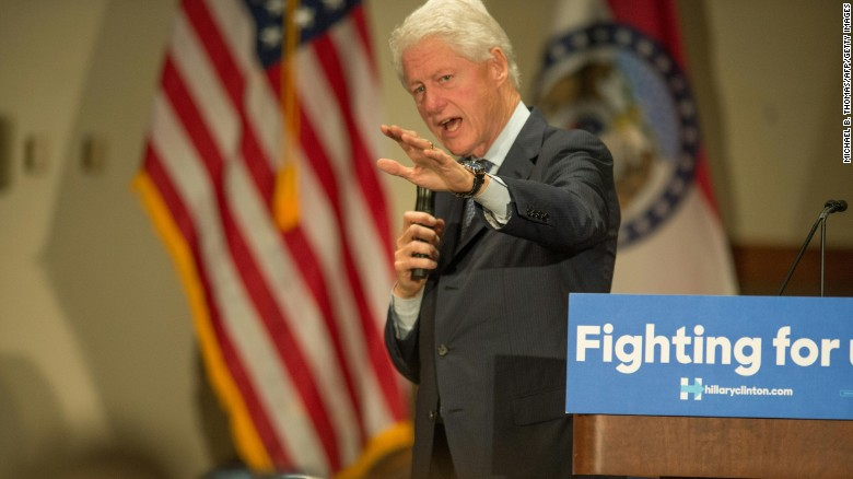 Bill Clinton 'almost sorry' about protester argument