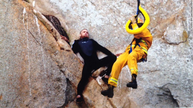 Man gets stranded on cliff after marriage proposal