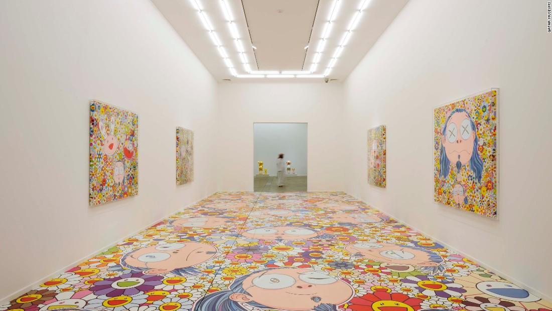 Installation View of Murakami -- Ego, 2012, Al Riwaq, Doha, Qatar