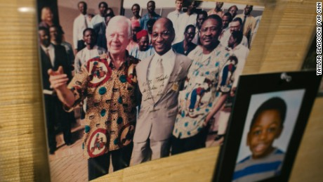Former President Jimmy Carter made Guinea worm eradication a priority. Carter calls Hopkins a hero.