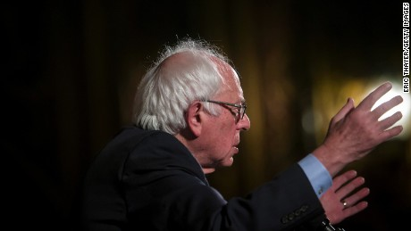 Bernie Sanders (D-VT) attends a campaign rally at the United Palace on April 9, 2016 in the Brooklyn borough of New York City.