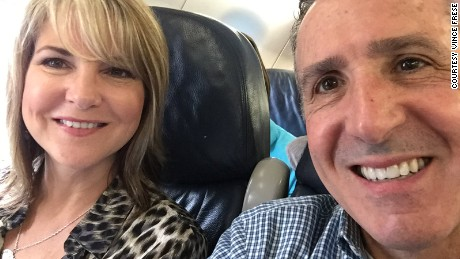 Vince Frese appeared on his Twitter account beside wife Monica on their way to attend a retreat for divorced Catholics for the Diocese of Toledo.