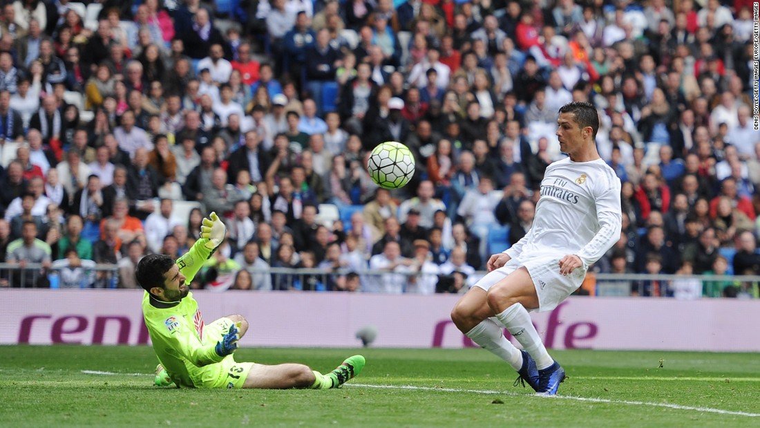 Lucas Vazquez made it 2-0 shortly after before Ronaldo (pictured) added a third.