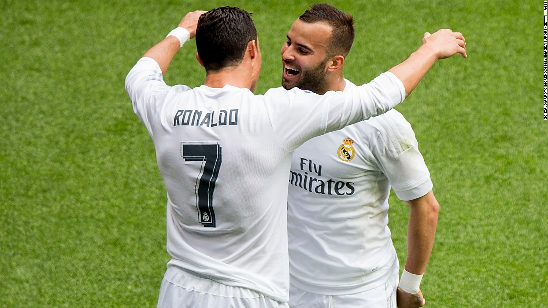 Ronaldo and Jese celebrate as Eibar is put to the sword.