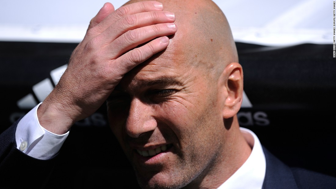 Real Madrid manager Zinedine Zidane looks on as his team followed up last weekend's victory over arch rival Barcelona.