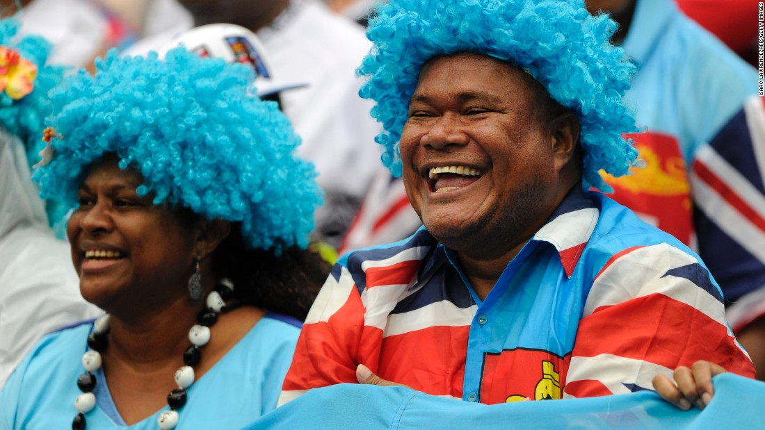 Fijian supporters had plenty to smile about as their team retained the title in Hong Kong.