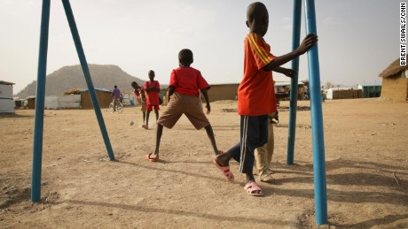 Children play in the Minawao refugee camp in Cameroon.