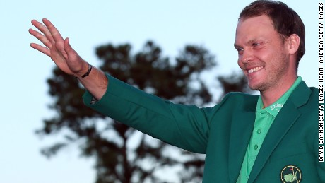 AUGUSTA, GEORGIA - APRIL 10:  Danny Willett of England celebrates with the green jacket after winning the final round of the 2016 Masters Tournament at Augusta National Golf Club on April 10, 2016 in Augusta, Georgia.  (Photo by David Cannon/Getty Images)